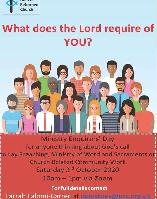 Ministry Enquirers' Day
