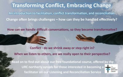 Transforming Conflict, Embracing Change – FREE basic reconciliation course